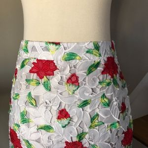 NWOT HD In Paris Lace Embroidered Pencil Skirt 6